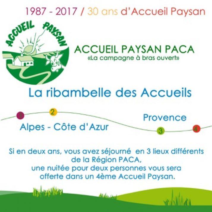 La ribambelle des Accueils Paysans en PACA
