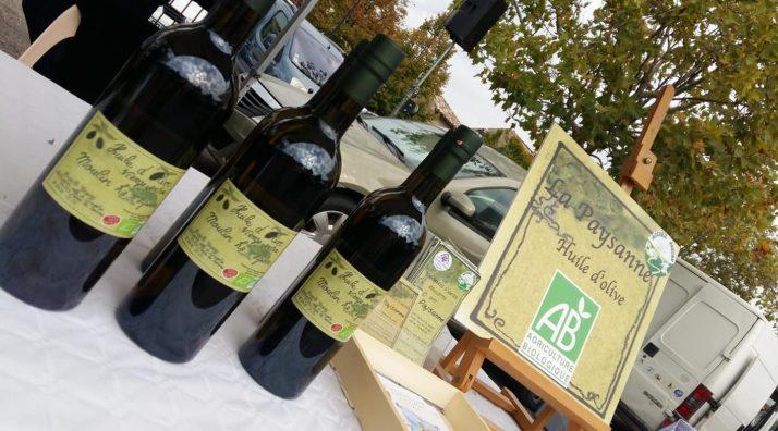 Vente d'huile d'olives à la ferme